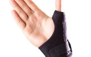 Использование бандажа на большой палец руки