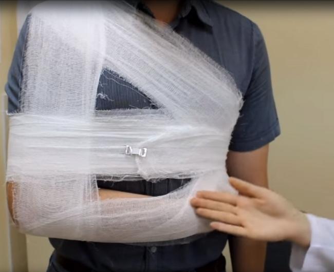Вид повязки Дезо спереди