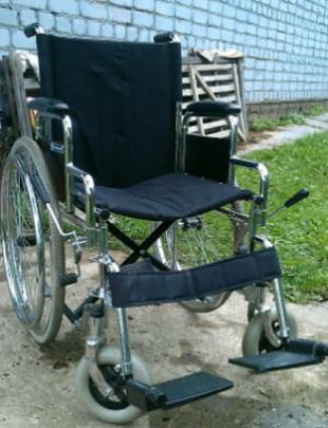 Хромированная инвалидная коляска б/у