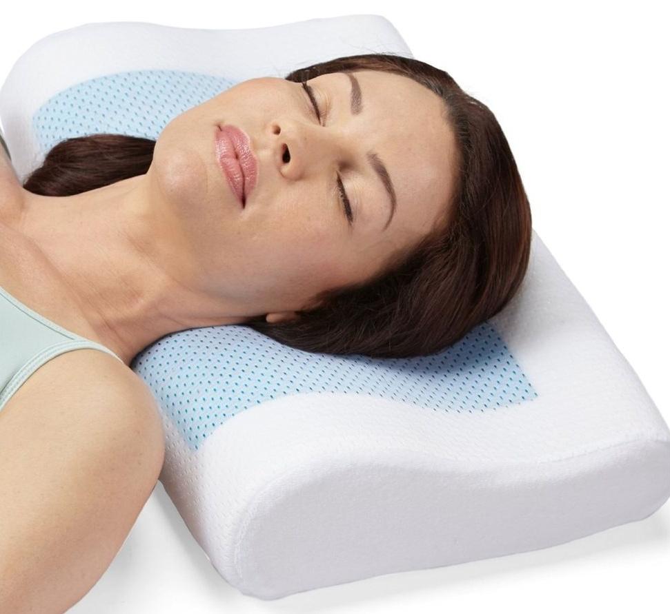Ортопедическая подушка имеет специальную форму, которая обеспечивает максимально комфортные условия для сна